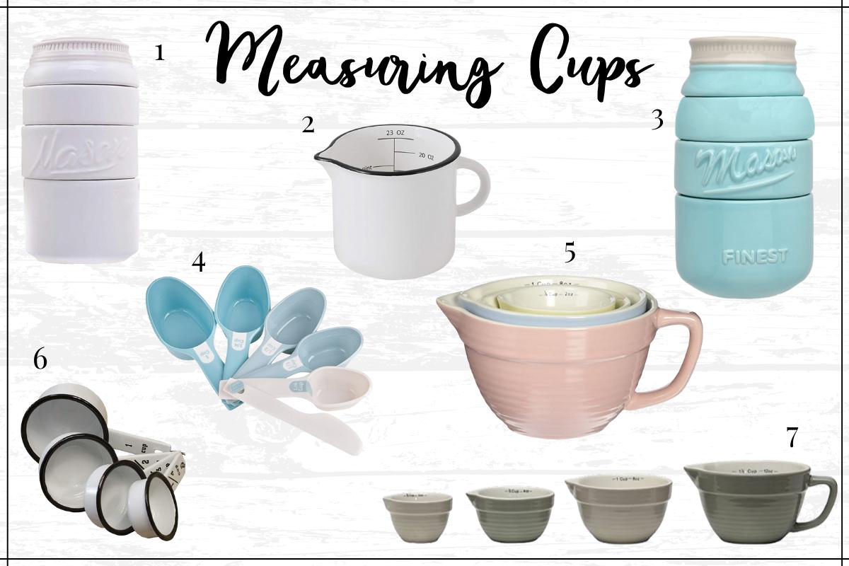 Farmhouse kitchen decor finds - farmhouse measuring cups