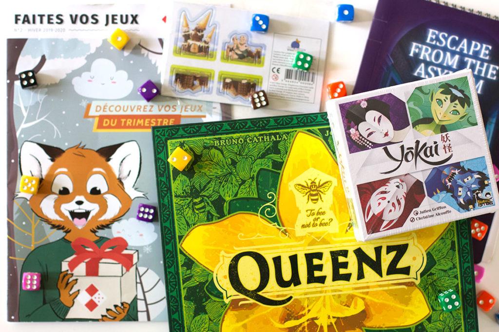 Contenu de la Box de jeux de société Ludum