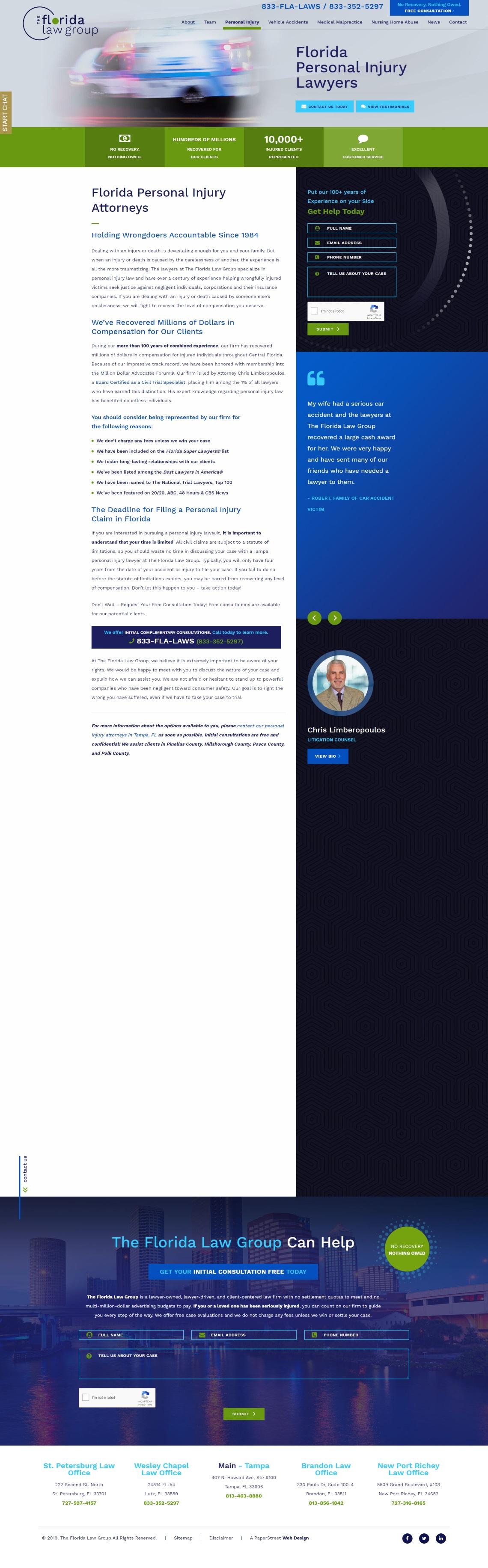 The Florida Law Group Screenshot