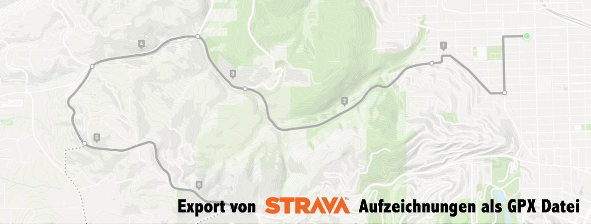 Tipp: Export von Strava Aktivitäten als GPX Datei