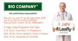 Leafly.de im BIO COMPANY Pop-up Store Berlin
