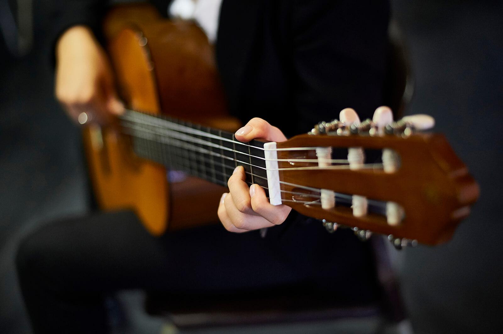 Close up guitar