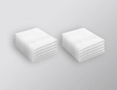 10 x Gästehandtücher Dreamflor Weiss
