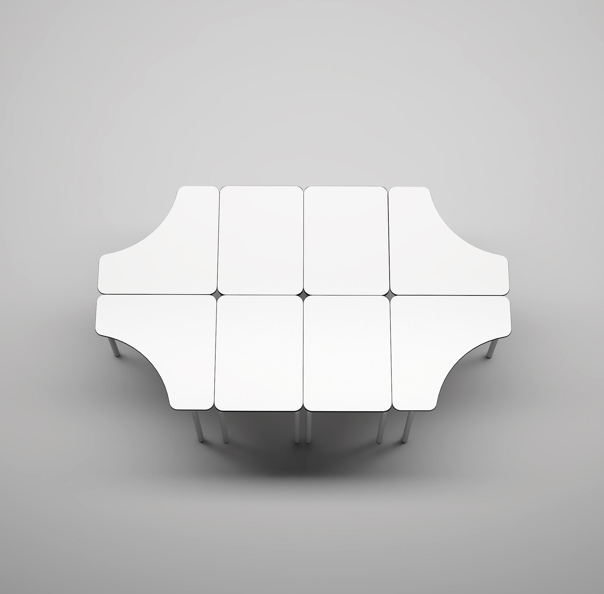mesa trabajo cooperativo mobiliario escolar
