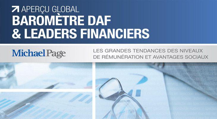 Barométre DAF & Leader Financiers, niveaux de rémunération et avantages sociaux