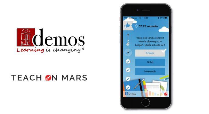 Le groupe Demos signe un accord de partenariat avec Teach On Mars pour offrir aux entreprises des solutions innovantes de mobile learning