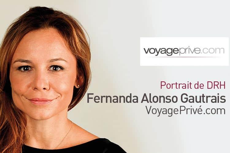 Portrait de Fernanda Alonso Gautrais, DRH de Voyage Privé