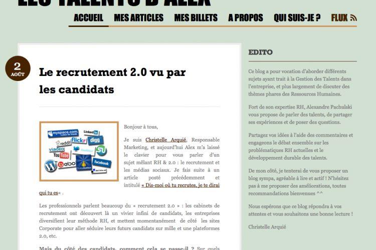 Le recrutement 2.0 vu par les candidats