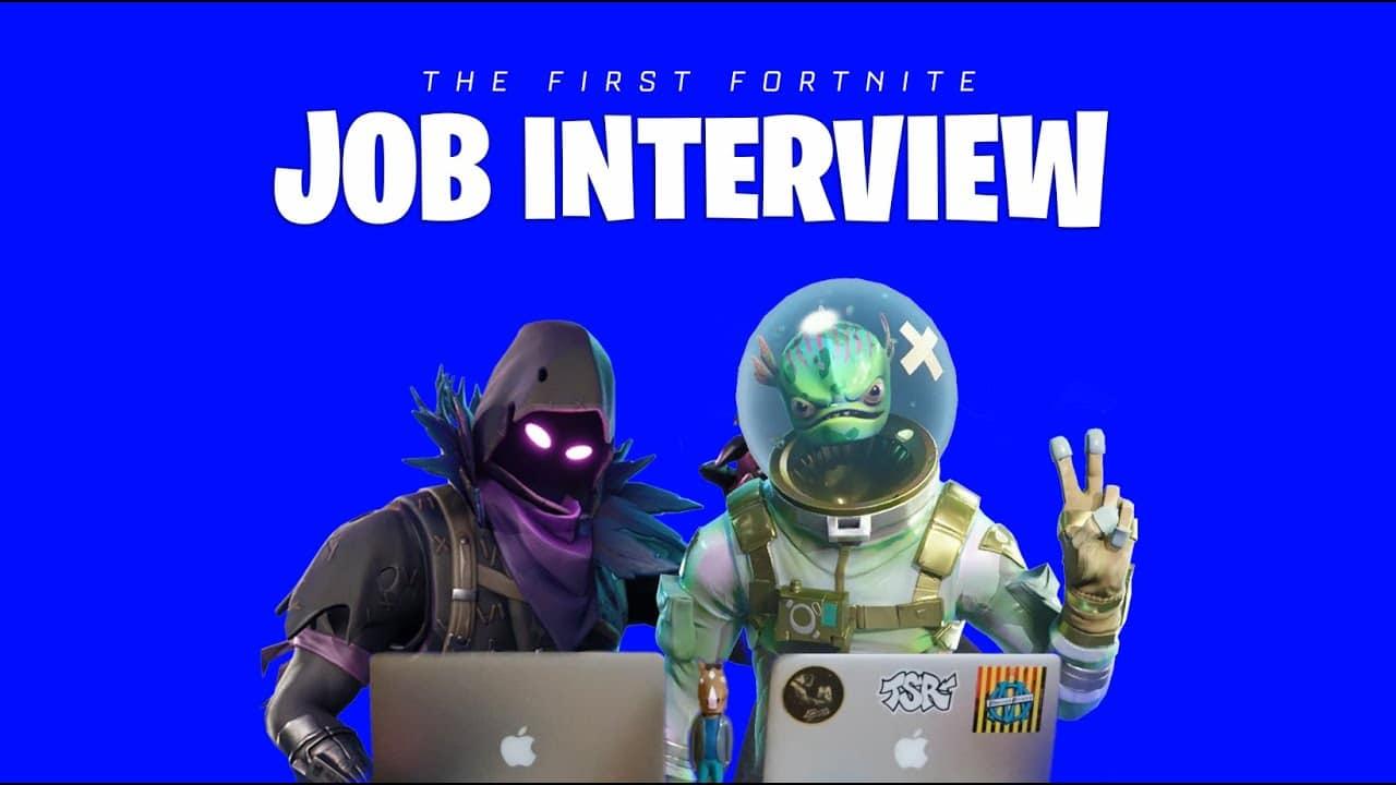 L'entretien d'embauche Fortnite : le jeu là où on ne l'attend pas !