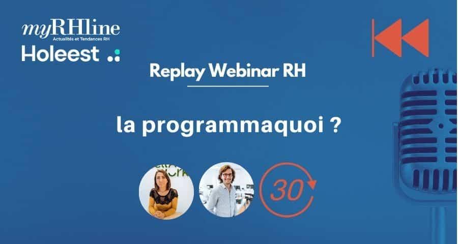 Replay TDRH : la programmaquoi ?