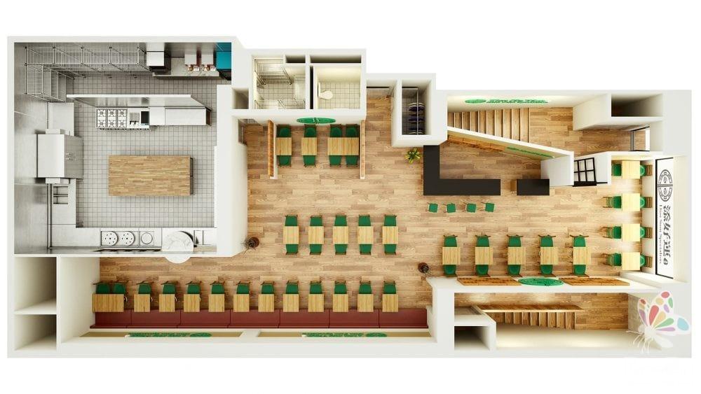 Painting Pixels 3D floor Plan Digital Media Studio Design Ipswich Suffolk 1