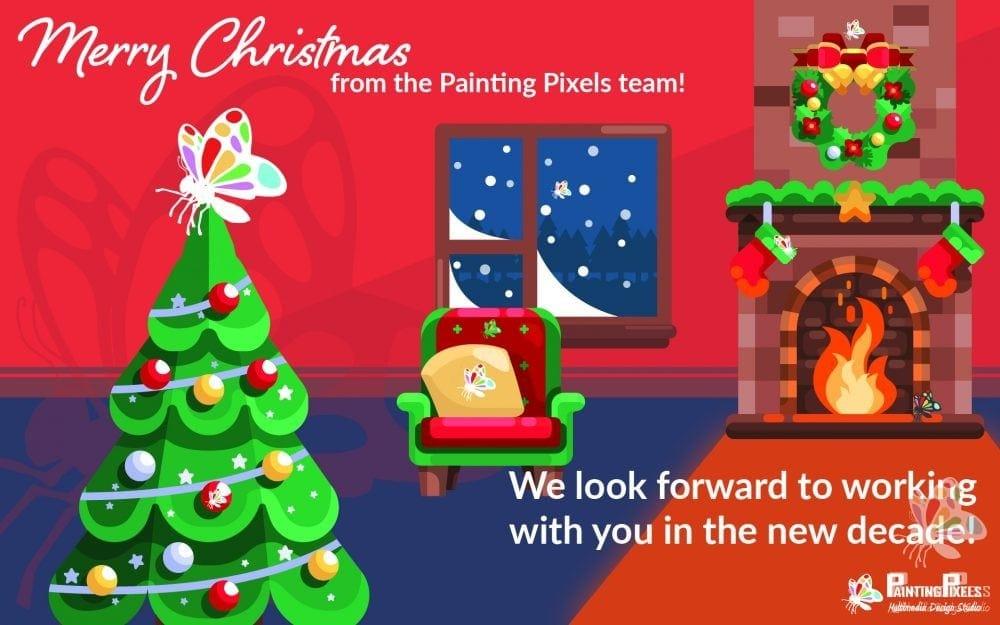 Painting Pixels Christmas 2019 Digital Marketing Design Agency Ipswich Suffolk London