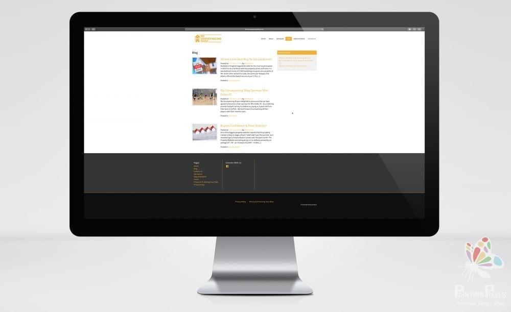 web designer ipswich suffolk my conveyancing shop website graphics - 1