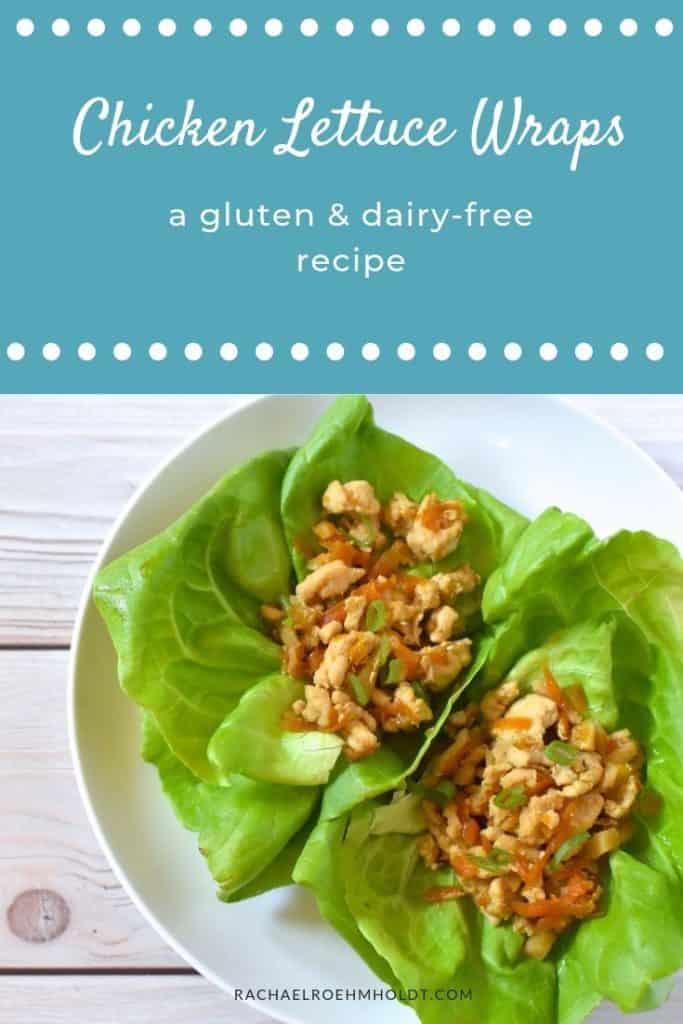 Chicken Lettuce Wraps: 5-ingredient gluten and dairy-free recipe