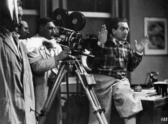 Fritz Lang en tournage