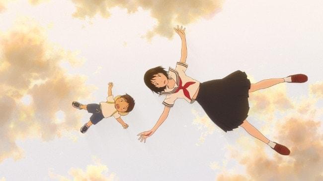 Kun et Miraï dans le film d'animation de Hosoda