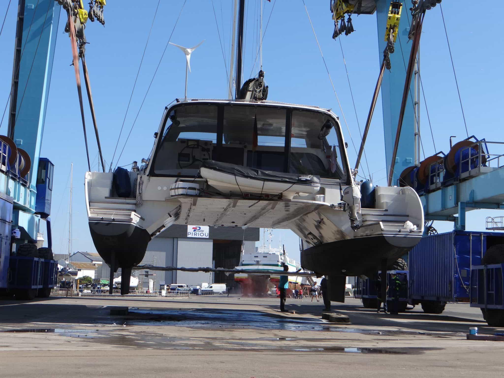 Décollage du bateau