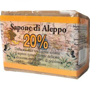 Sapone di Aleppo 20% Alloro Biologico