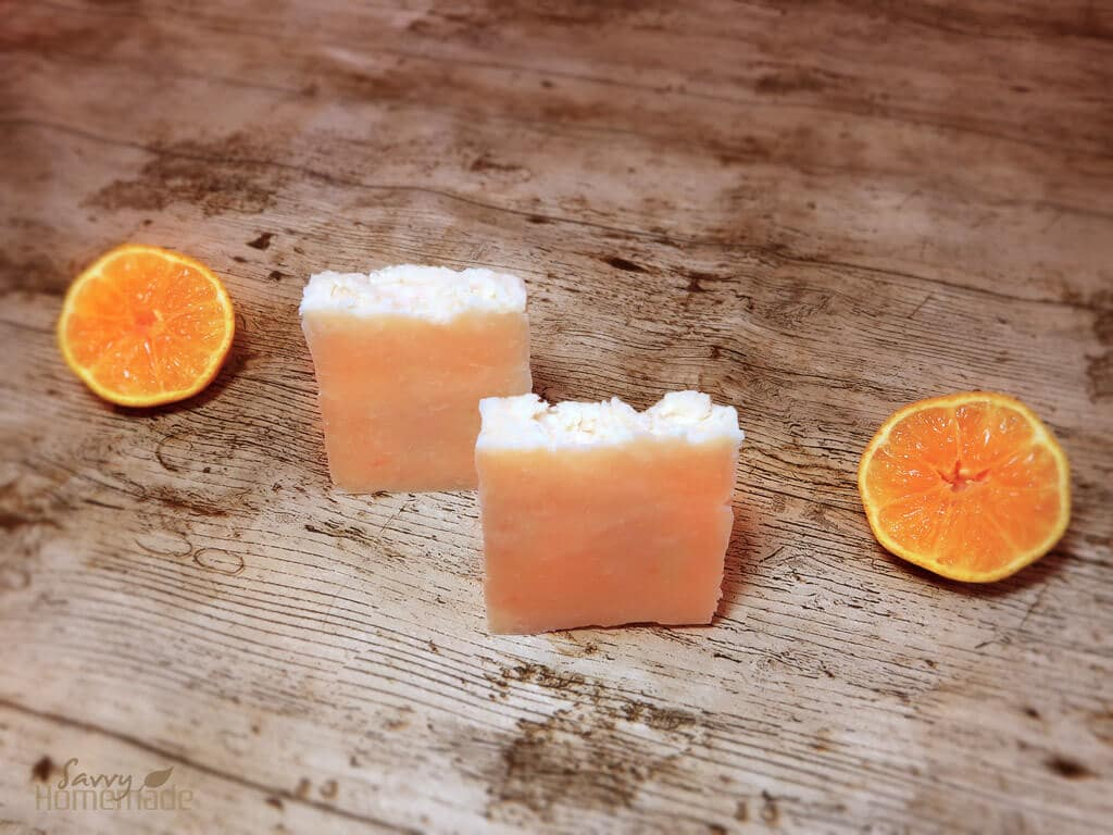 Basic homemade soap that leaves skin feeling soft and smooth