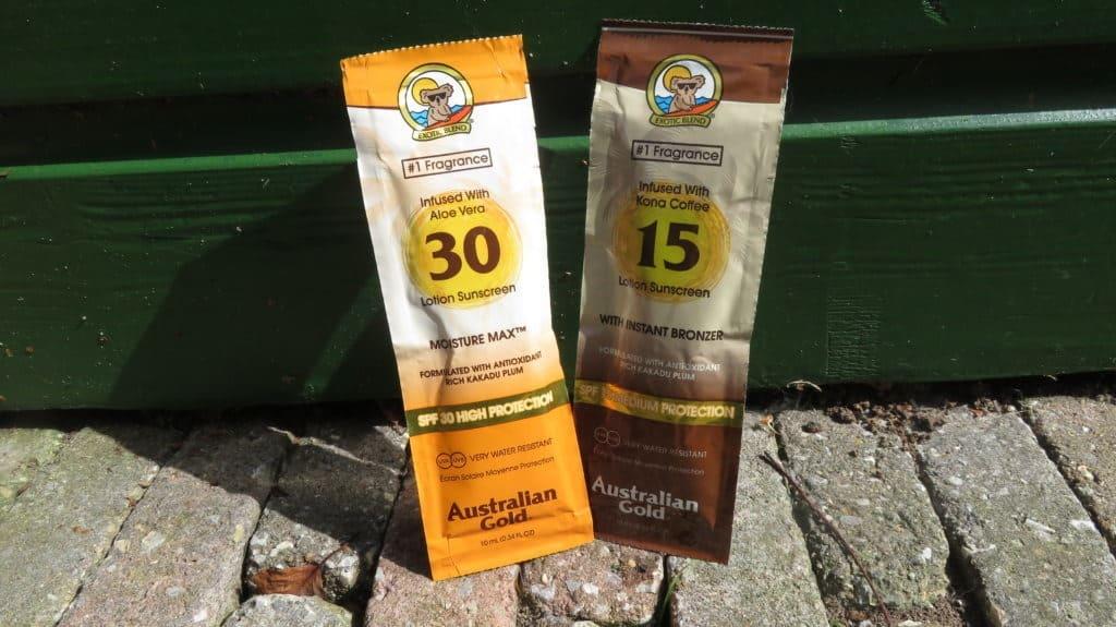 Beide zonnebescherming lotions van Australian gold.