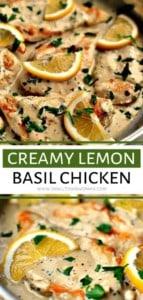 Creamy Lemon Basil Chicken