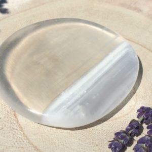 Selenite Smooth Stone Large