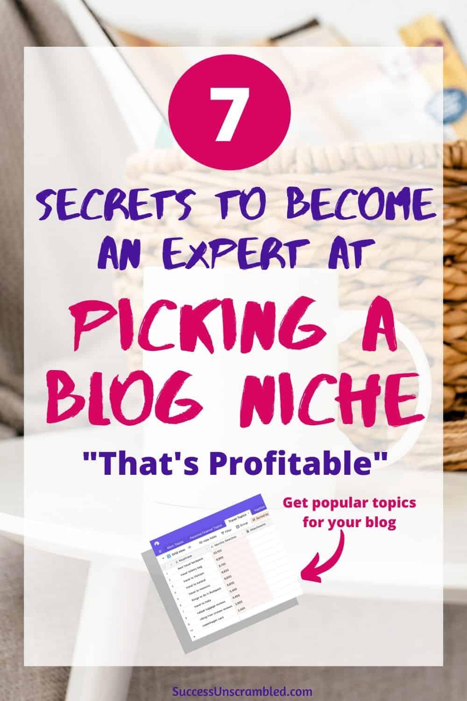 pick a blog niche, find a niche, niche blog - pin 1