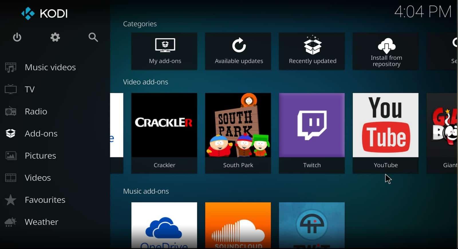 Kodi – TV and movies streaming app