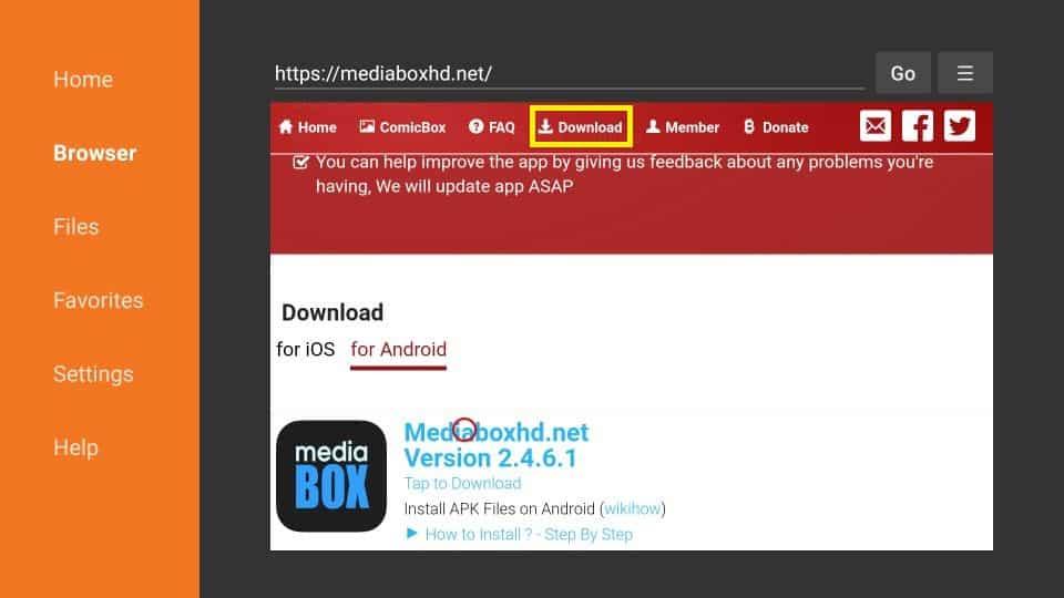 MediaBox HD APK for Firestick