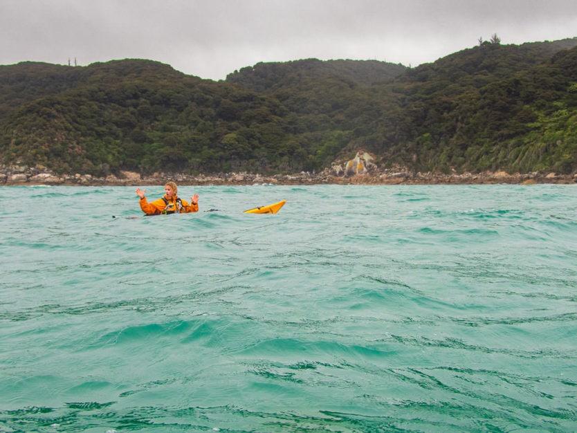 sea kayaking in nz in Canoe Bay