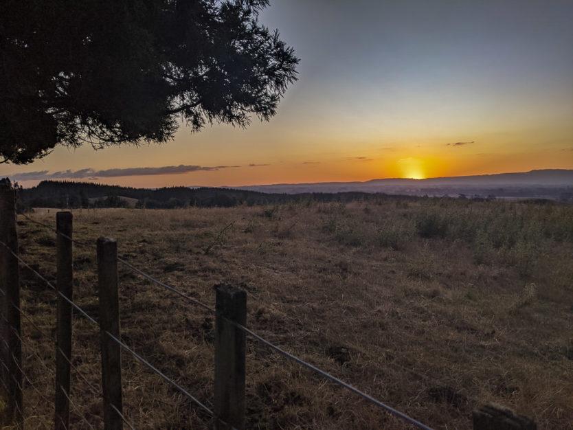 Sunset at mount tutu eco-sanctuary