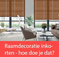 Raamdecoratie inkorten - hoe doe je dat?