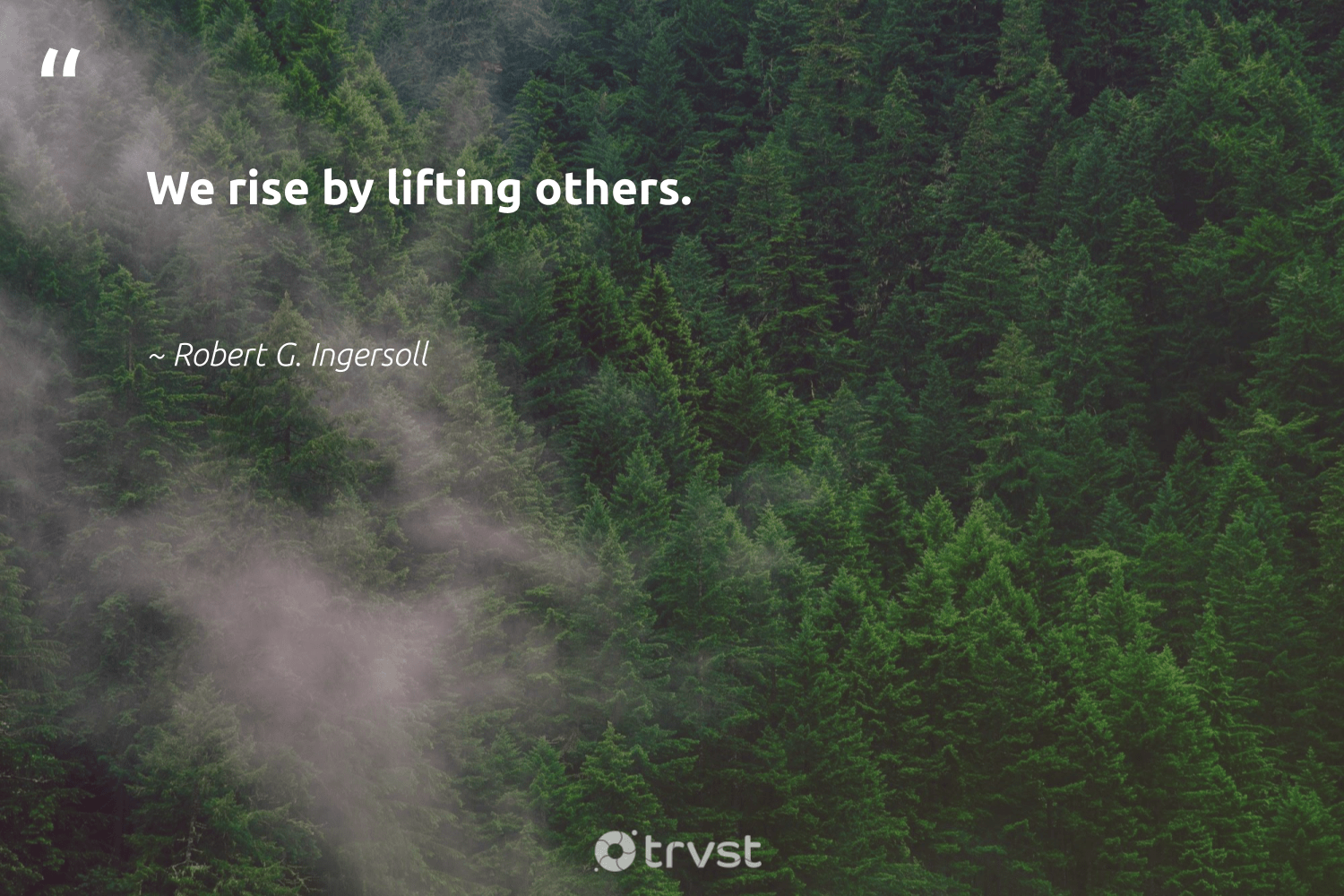 """""""We rise by lifting others.""""  - Robert G. Ingersoll #trvst #quotes #giveback #socialchange #bethechange #beinspired #dogood #impact #equalopportunity #socialimpact #weareallone #takeaction"""