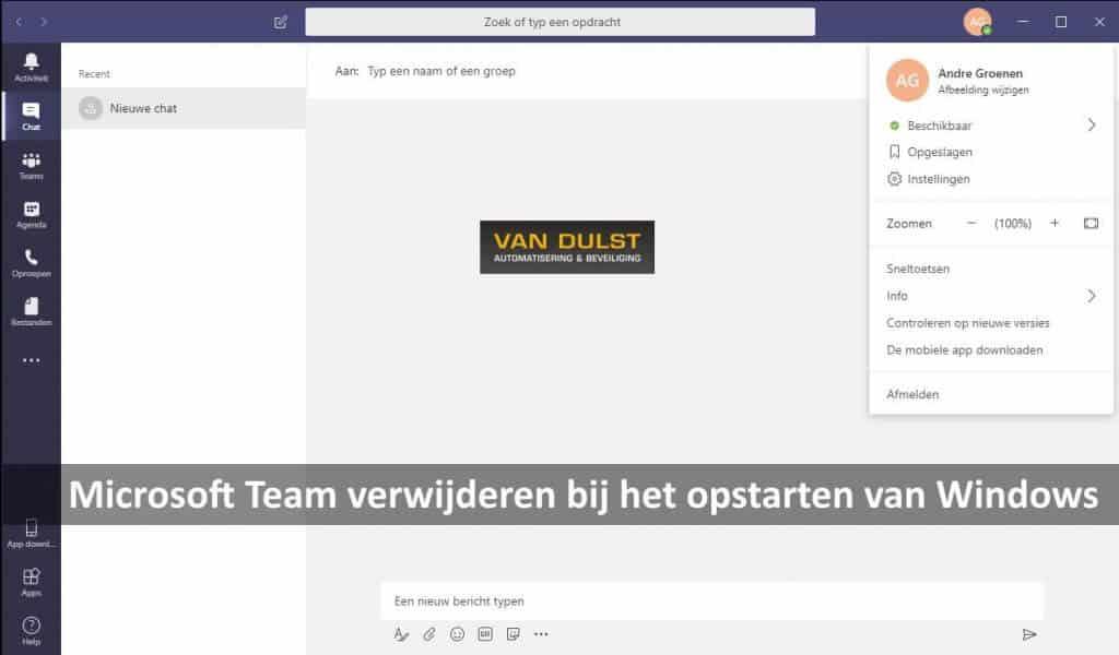 Microsoft Teams Verwijderen