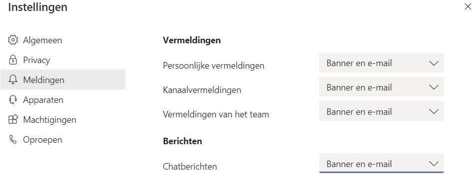 Microsoft Teams Handleiding meldingen uitschakelen