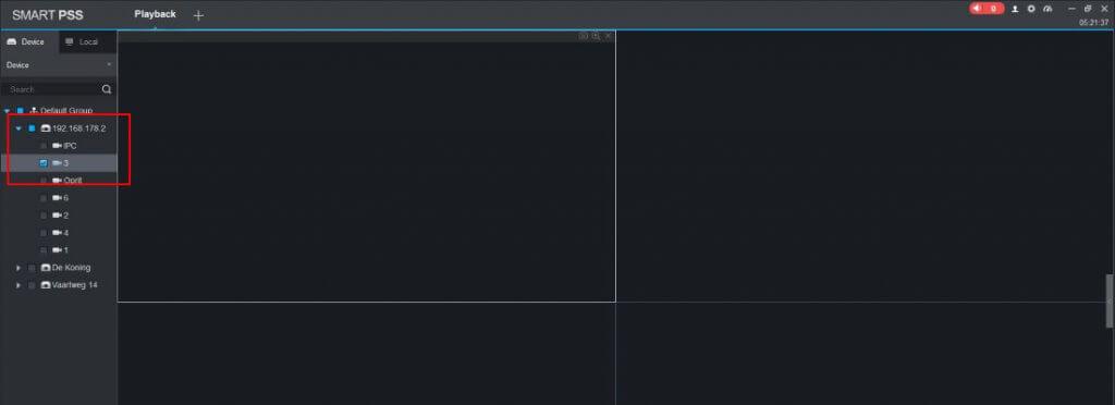 Dahua Smart PSS handleiding beelden terug kijken menu