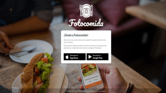 App Fotocomida una nueva forma de compartir