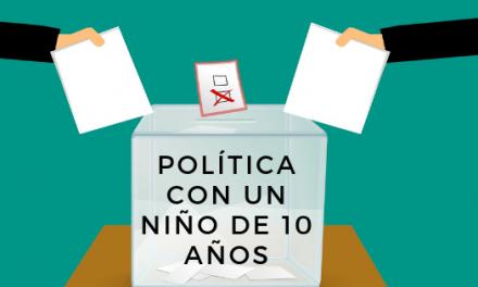 Política con un niño de 10 años
