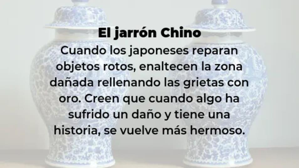 Fábula del Jarrón Chino. Kintsugi