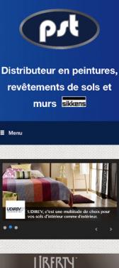 Capture d'écran du site internet mobile PST