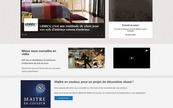Capture d'écran du site internet PST