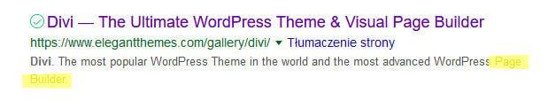 Page builder divi brak słowa composer w opisie