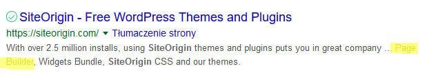Page builder siteorgin nadal brak słowa composer w opisie