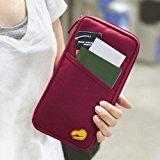 Popamazing Red 25Lx13Wx2.5cmH New Travel Wallet Organizer Passport Credit Card Holder Cash Purse Case Bag UK