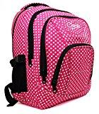 High Quality Large Chervi Womens Girls Polka Dot College School Uni Backpack Bag (Large Pink Polka)