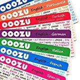 OOOZU Language Cards Multipack - Phrasebook Alternative - Spanish, Italian, French, German, Portuguese, Greek and Turkish Language Cards