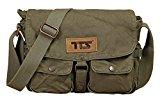 Bronze Times Professional Business Premium Canvas Messenger/Shoulder Bag(Pale Grey)
