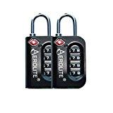 Aerolite TSA Padlock 4-Dial Combination Pin Security TSA Approved Travel Luggage Suitcase Bag Lock