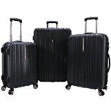 Traveler's Choice Tasmania 3-Piece Luggage Set, Black
