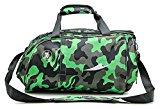 YAAGLE Camouflage Gym Totes Sports Bag Shoudler Handle Bag